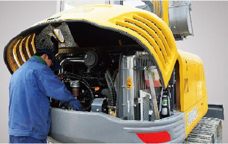 徐工小型6t挖掘机具有便捷的维修保养功能