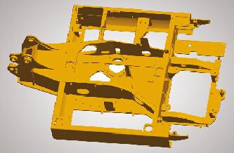 徐工小型挖掘机的回转平台