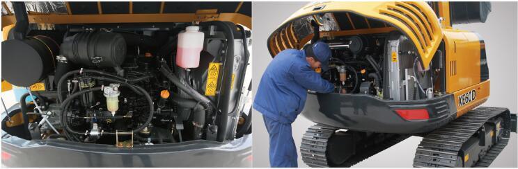 徐工60D全液压挖掘机便捷维护保养