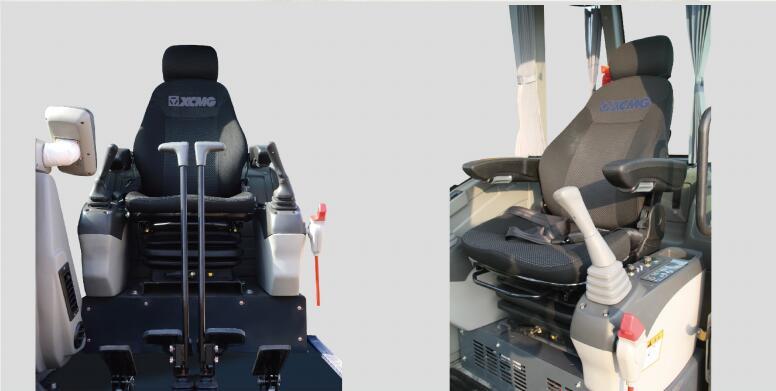 徐工75D挖掘机舒适的驾驶环境